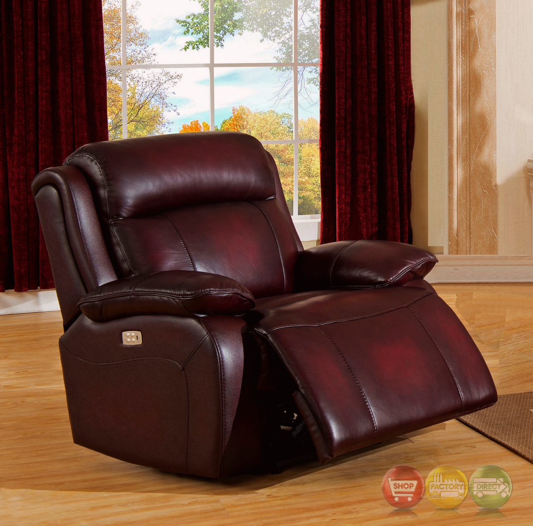real leather sofa sets throw pillows for black faraday power recline 3pc set in deep red