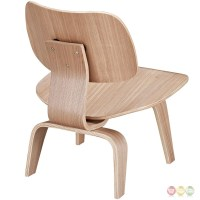 Fathom Contemporary Wood Panel Lounge Chair With Curved ...