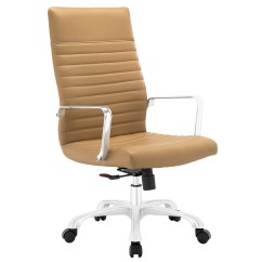 Stylish High Chair Pride Lift Chairs Parts Finesse Modern Vinyl Upholstered Back Office Tan
