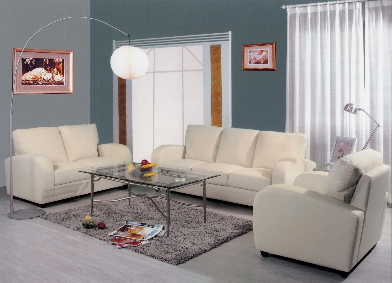 white leather chairs for living room office chair that leans back 3 piece sofa set modern