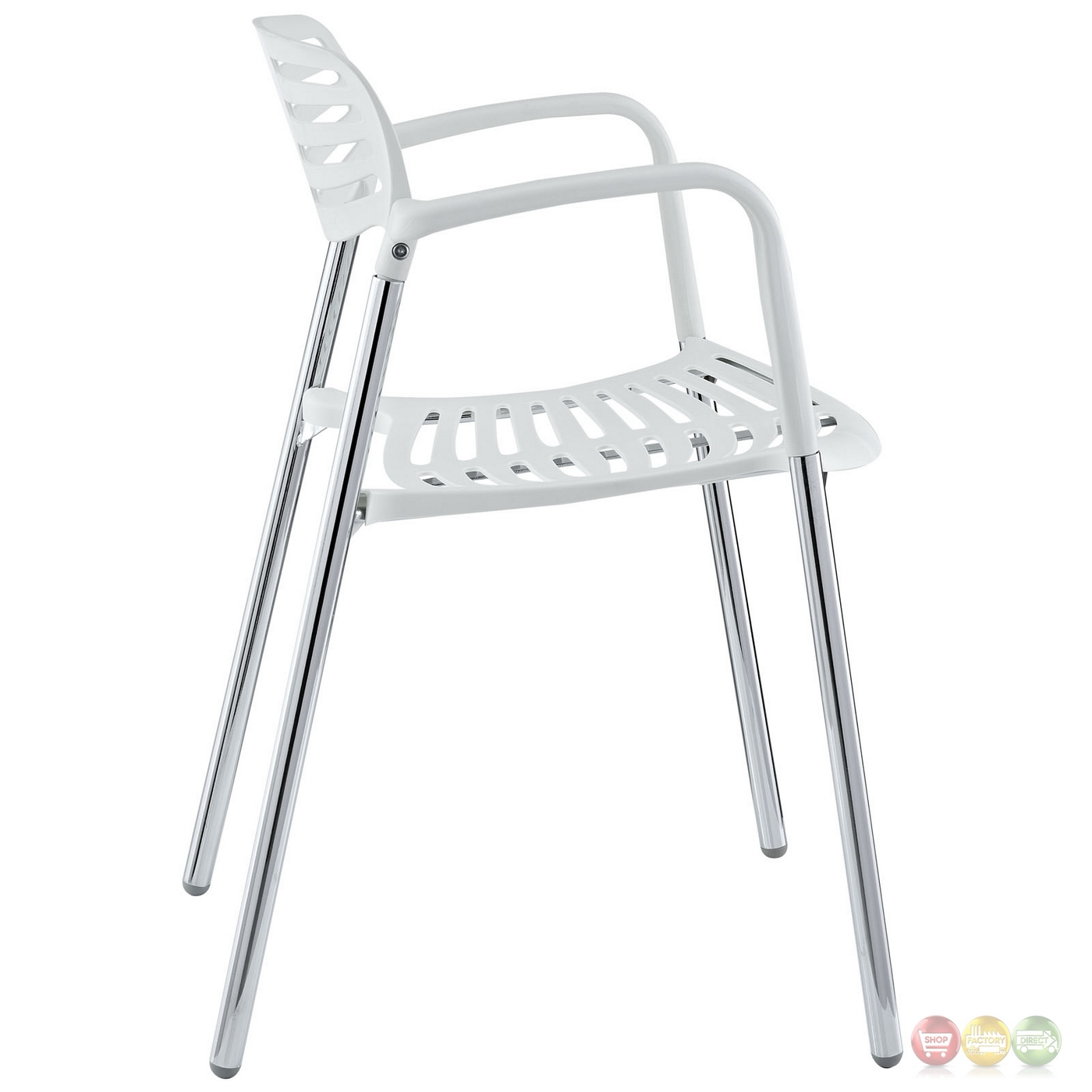 white stacking chairs plastic kevi desk chair fleet casual with chrome metal