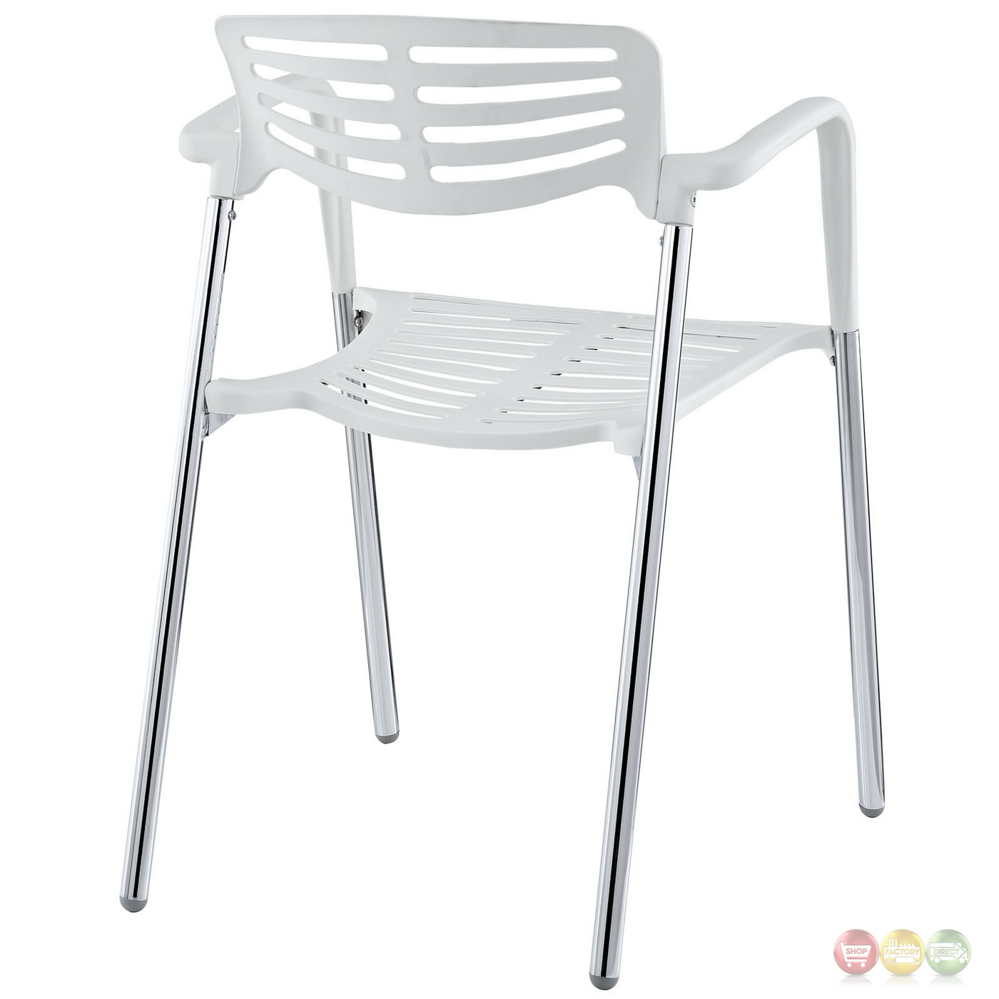 white stacking chairs plastic childrens bouncy chair fleet casual with chrome metal