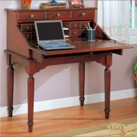 Flip Down Secretary Office Desk With Storage Drawers in ...