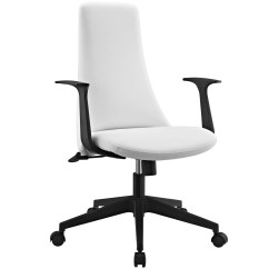 Modern White Office Chairs Folding Chair Covers Spandex Fount Mid Back Upholstered With Nylon