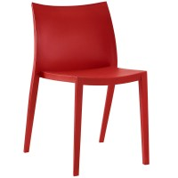 Gallant Contemporary Plastic Dining Side Chair, Red
