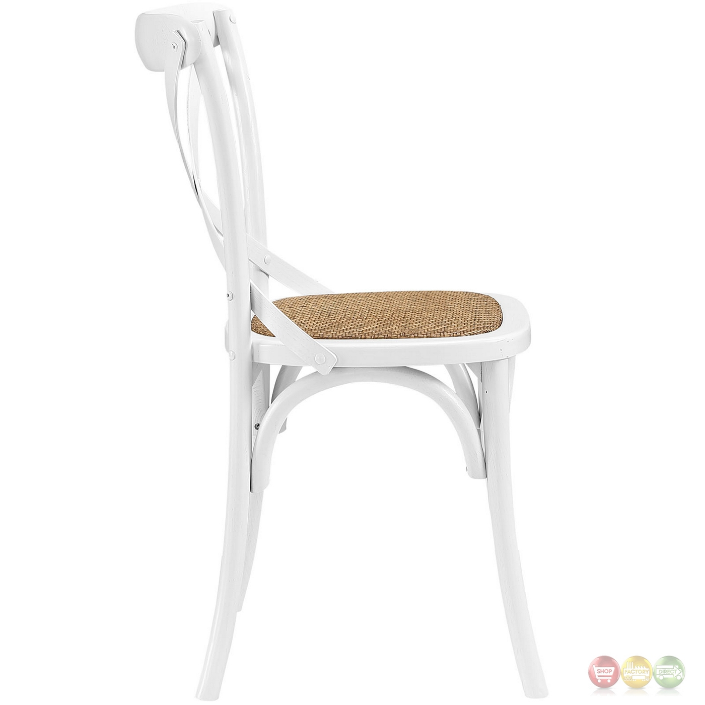 white x back chair steel in chennai gear modern country wooden quotx quot side w rattan