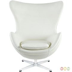 Modern White Leather Club Chair Accessories For Elderly Glove Mid Century Italian Lounge