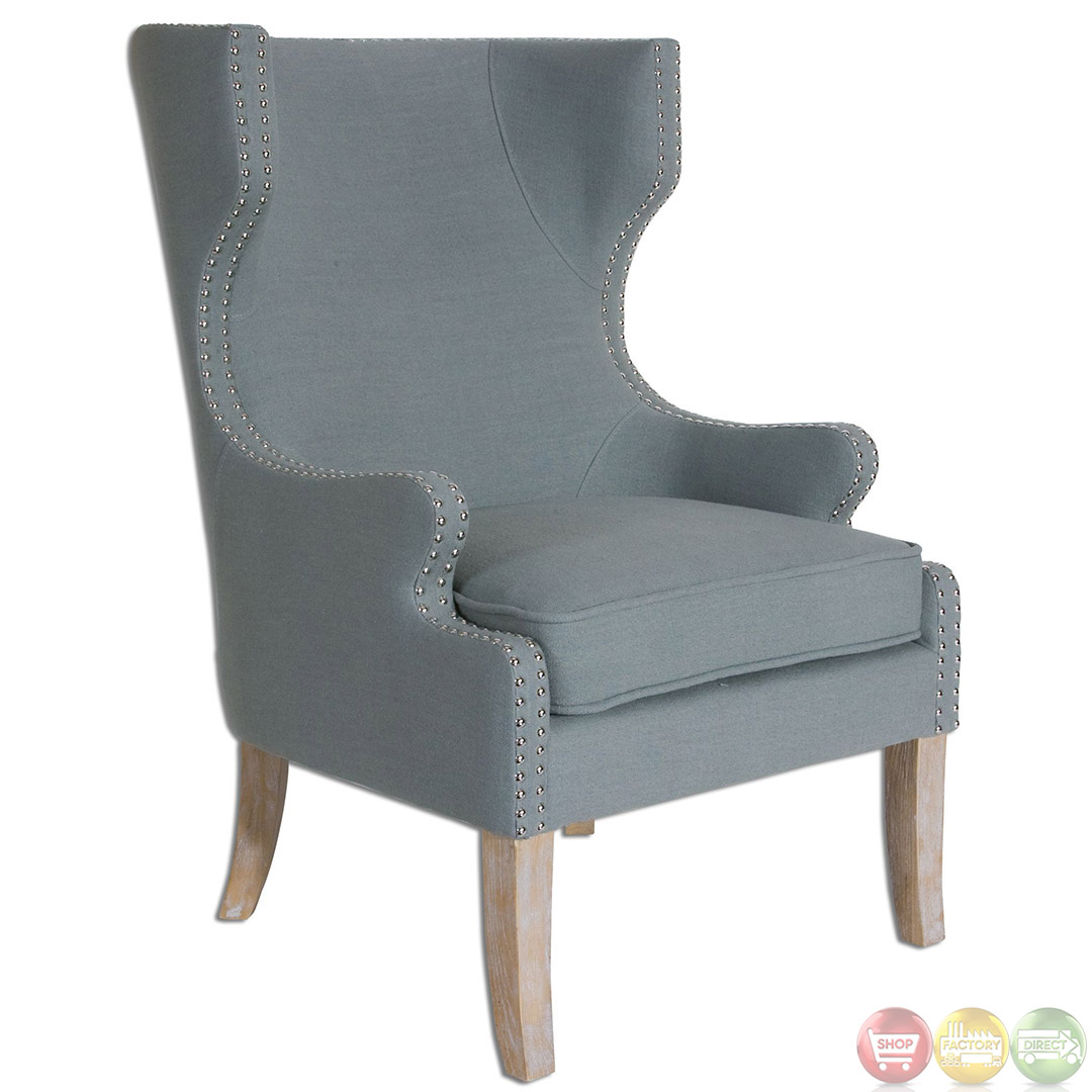 Wing Chair Graycie Traditional High Back Wing Chair 23136