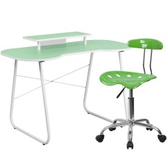 Green Computer Chair Pride Lift Parts Diagram Desk With Monitor Stand And Tractor