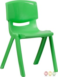 Green Plastic Stackable School Chair with 18 Inch Seat ...