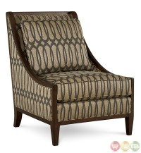 Harper Mineral Ogee-Patterned Fabric Accent Chair