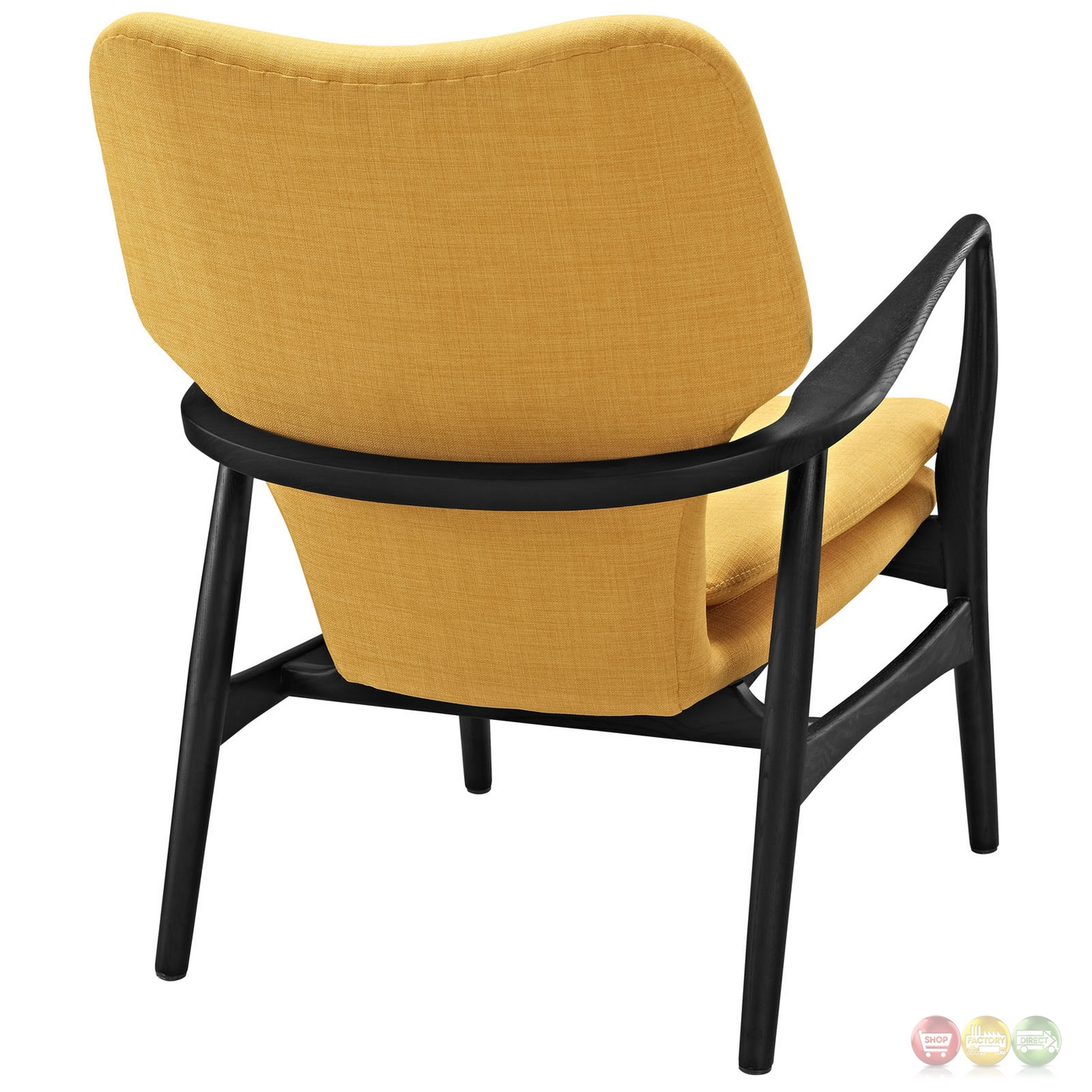 yellow upholstered accent chair soccer with canopy heed modern lounge button accents