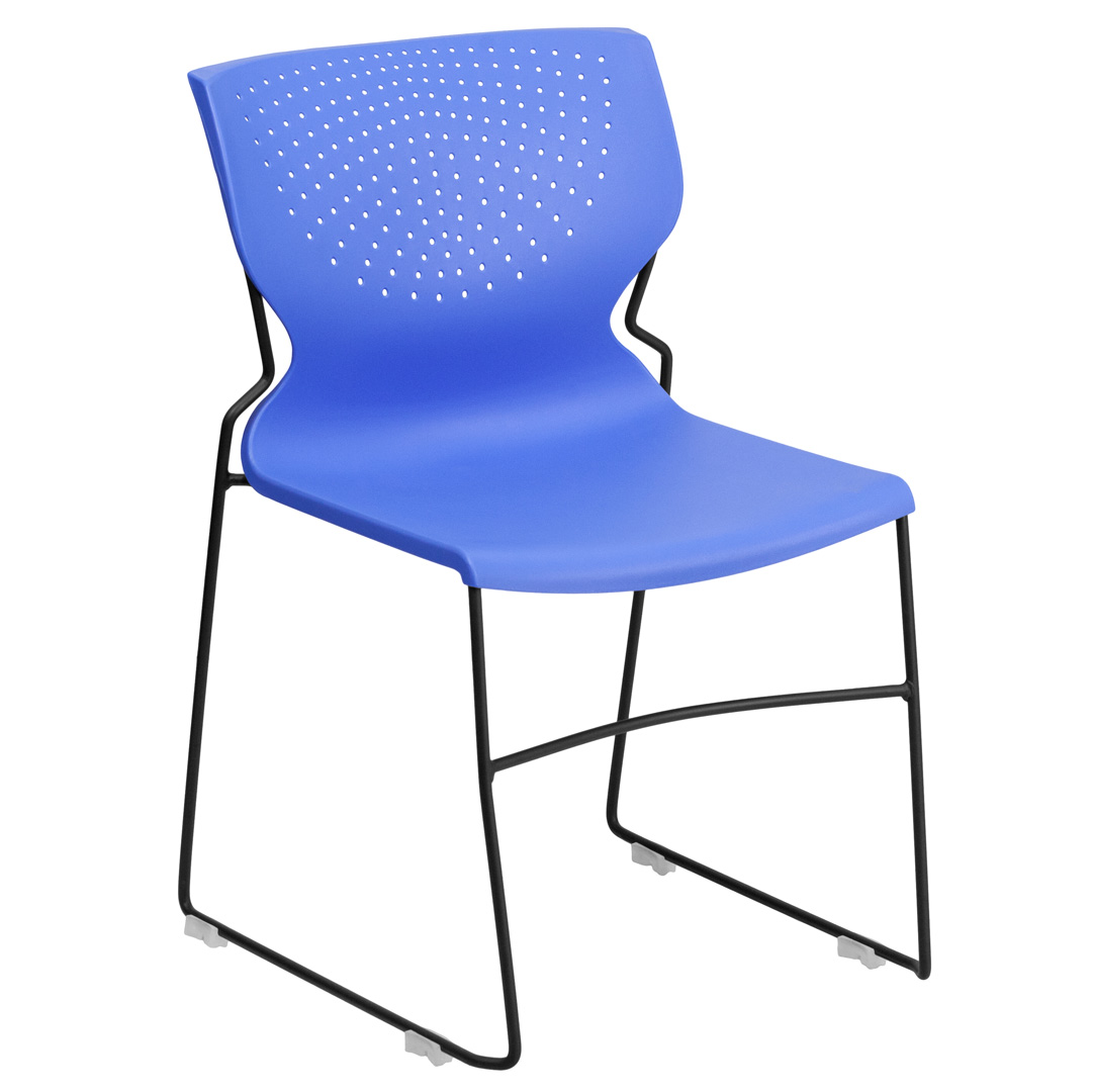 Hercules Stacking Chairs Hercules Series 661 Lb Capacity Blue Full Back Stacking