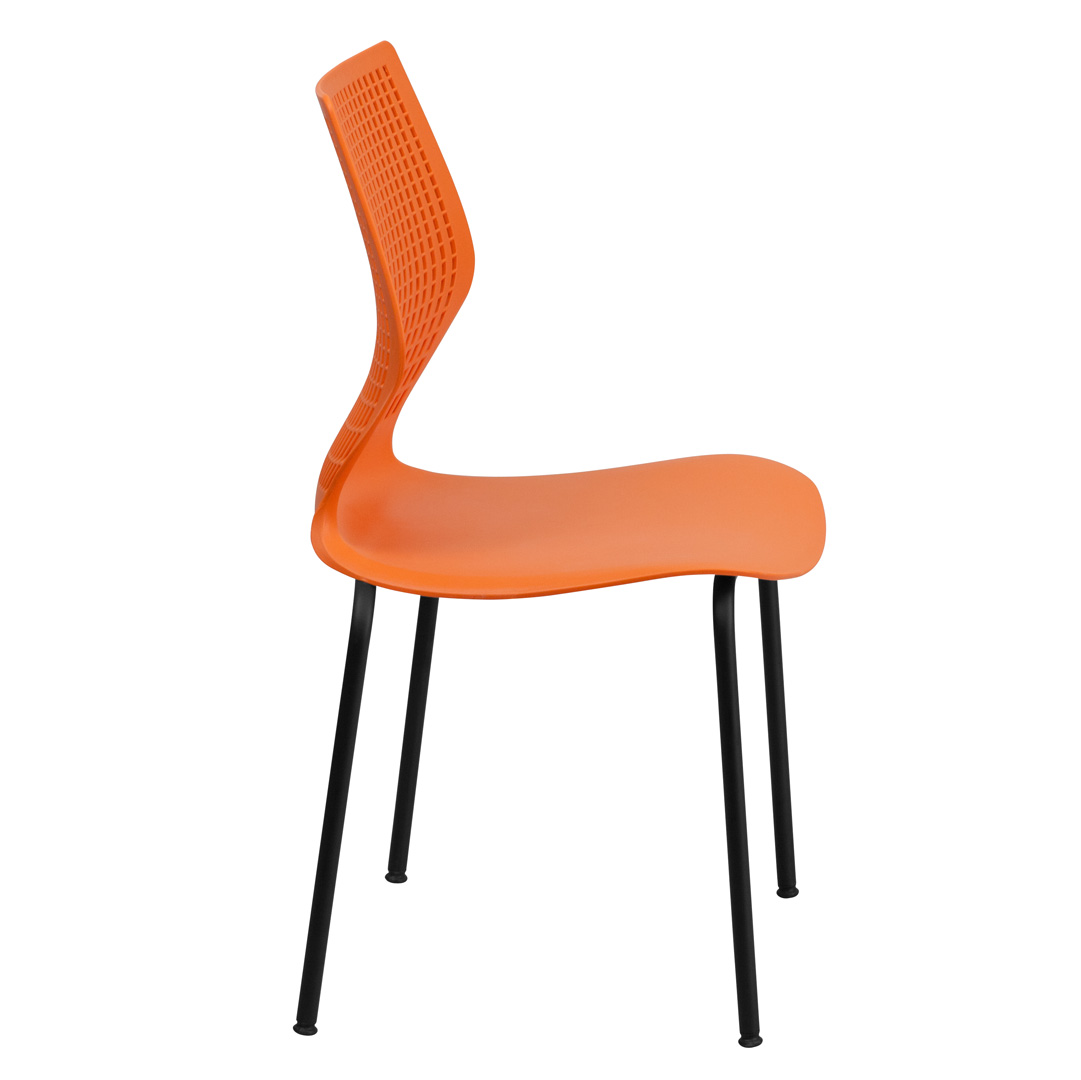 Hercules Stacking Chairs Hercules Series 770 Lb Capacity Designer Orange Stacking