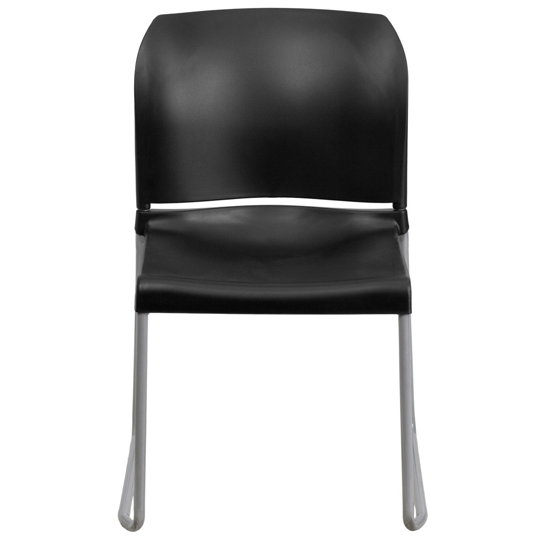 Hercules Stacking Chairs Hercules Series 880 Lb Capacity Black Full Back Contoured