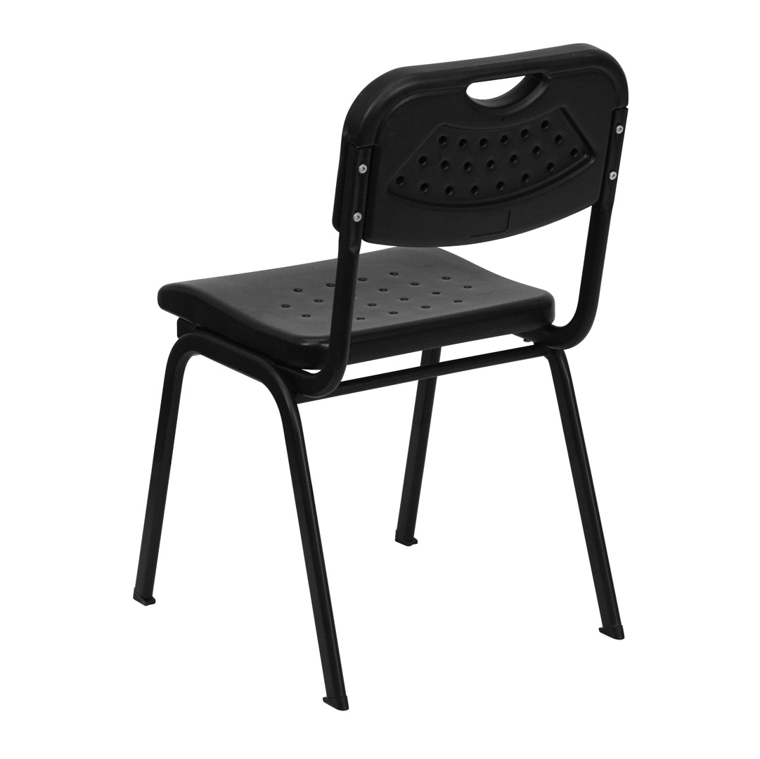 Hercules Stacking Chairs Hercules Series 880 Lb Capacity Black Plastic Stacking