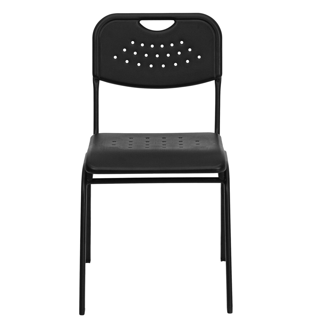 Plastic Stacking Chairs Hercules Series 880 Lb Capacity Black Plastic Stacking