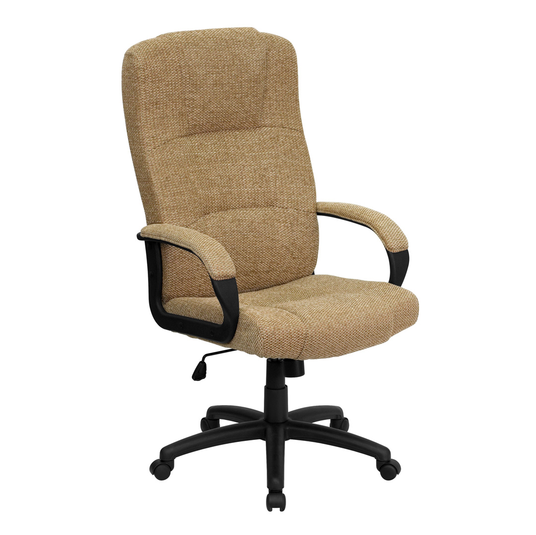 Cloth Office Chairs High Back Beige Fabric Executive Office Chair Bt 9022 Bge Gg