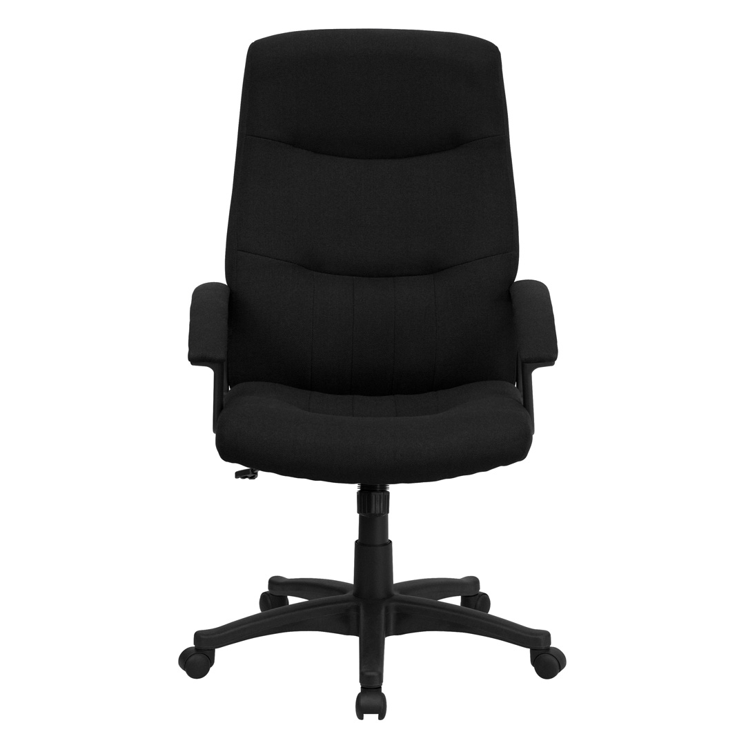 cloth office chairs steel chair properties high back black fabric executive swivel bt