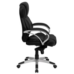 Modern Black Leather Desk Chair Pink And White Rocking High Back Contemporary Office H 9626l 2 Gg