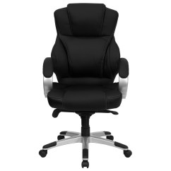 Modern Black Leather Desk Chair Fishing Lawn High Back Contemporary Office H 9626l 2 Gg