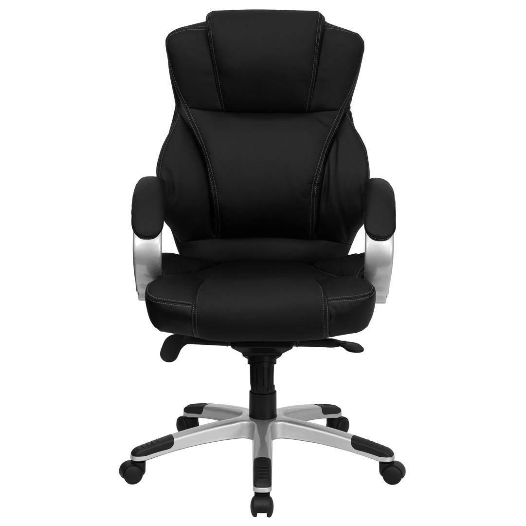 Contemporary Office Chairs High Back Black Leather Contemporary Office Chair H 9626l 2 Gg