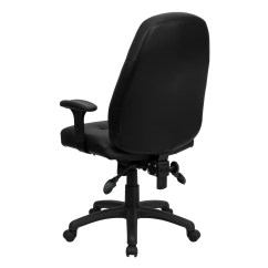 Black Leather Office Chair High Back Graco Replacement Seat Cover Executive Bt 2350 Bk Gg