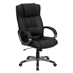 Office Chair High Back Side With Arms Black Leather Executive Bt 9002h Bk Gg