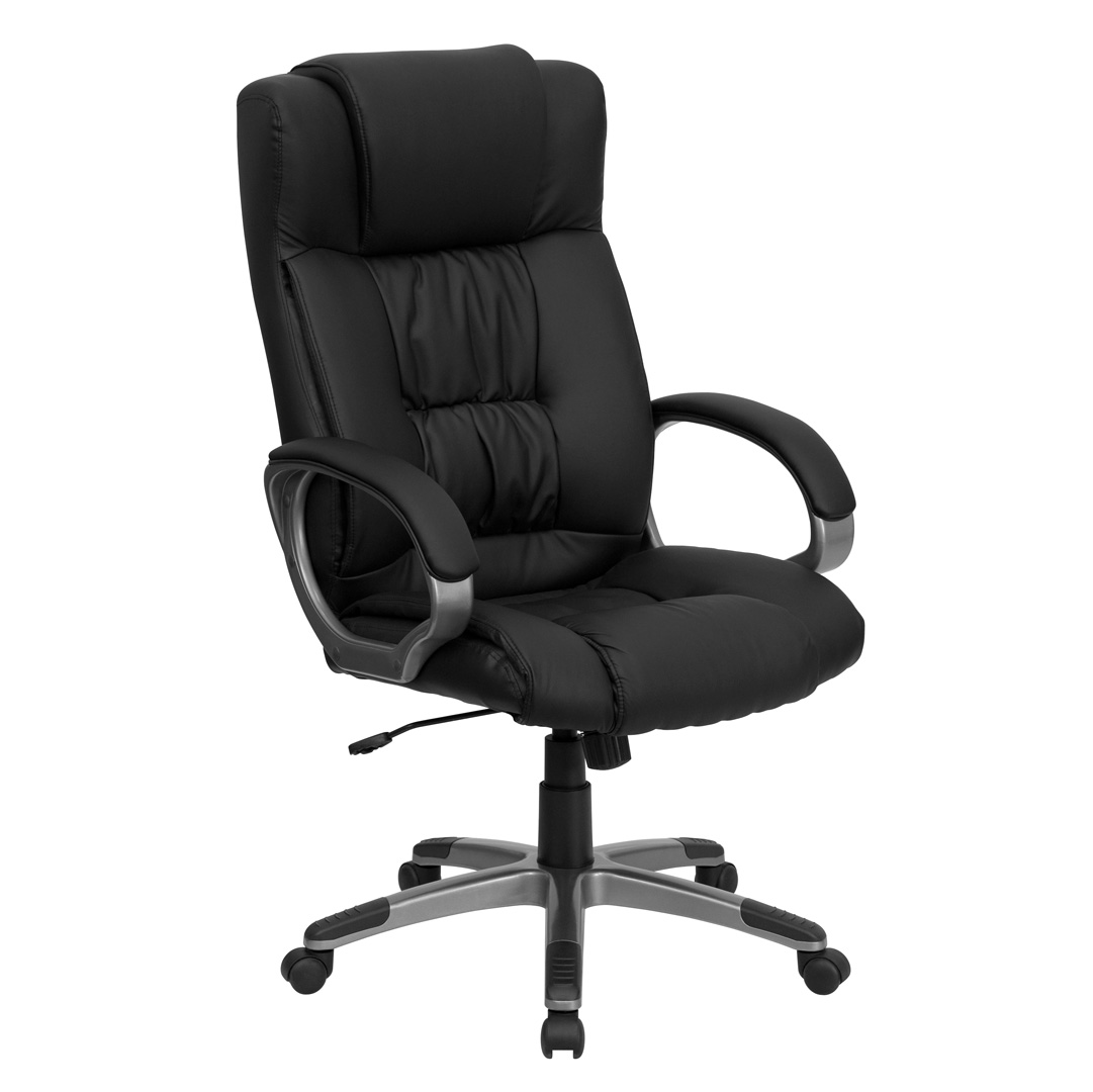 Executive Chair High Back Black Leather Executive Office Chair Bt 9002h Bk Gg