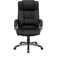 Black Leather Office Chair High Back Lift Medicare Form Executive Bt 9002h Bk Gg