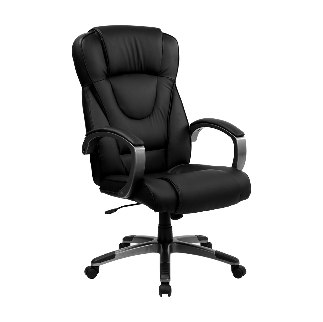 black leather office chair high back wheelchair charger executive bt 9069 bk gg