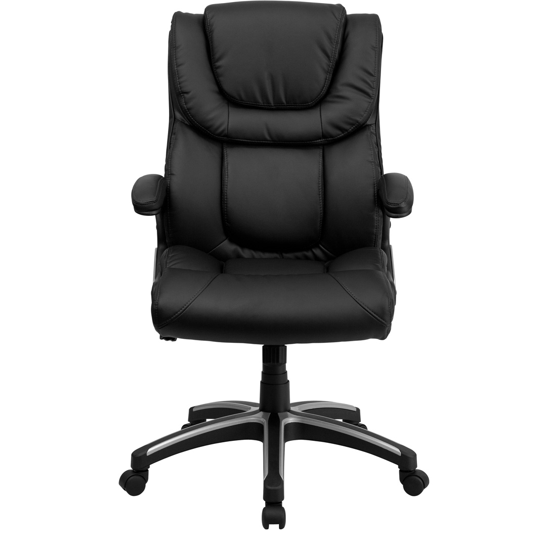 black leather office chair high back kid table and executive bt 9896h gg