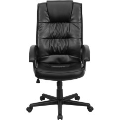 Leather Executive Chair Outside Wicker Cushions High Back Black Office Go 7102 Gg