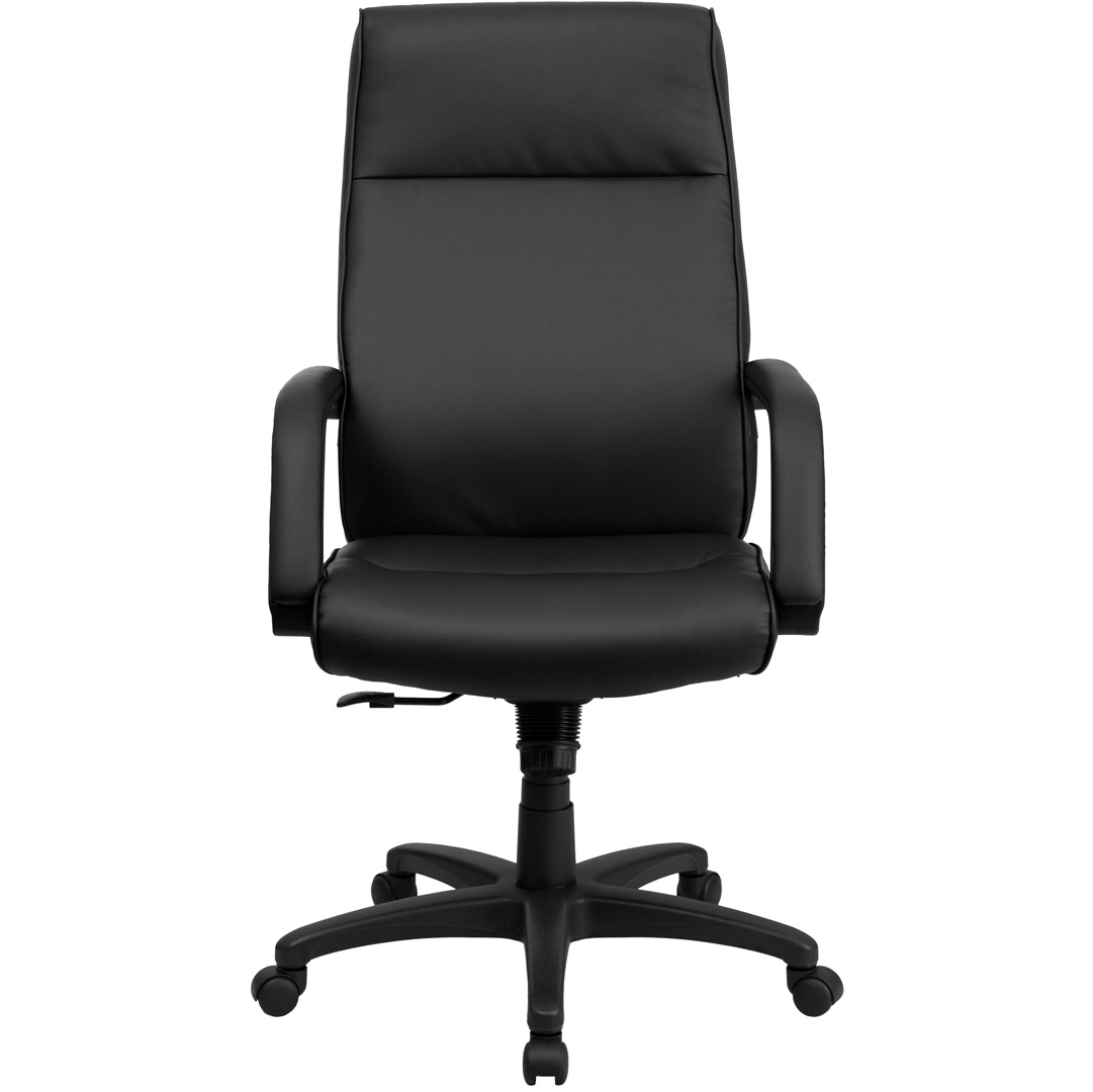 Memory Foam Office Chair High Back Black Leather Executive Office Chair With Memory