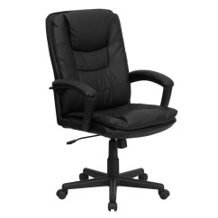 Black Leather Office Chair High Back Mothercare Travel Booster Seat Executive Swivel Bt