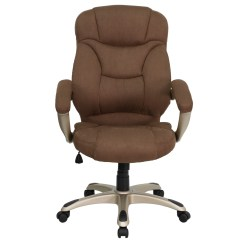 Microfiber Office Chair Blue Armchair Covers High Back Brown Upholstered Contemporary