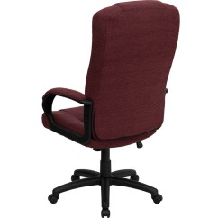 Office Chair High Back Plastic Modern Chairs Burgundy Fabric Executive Bt 9022 By Gg