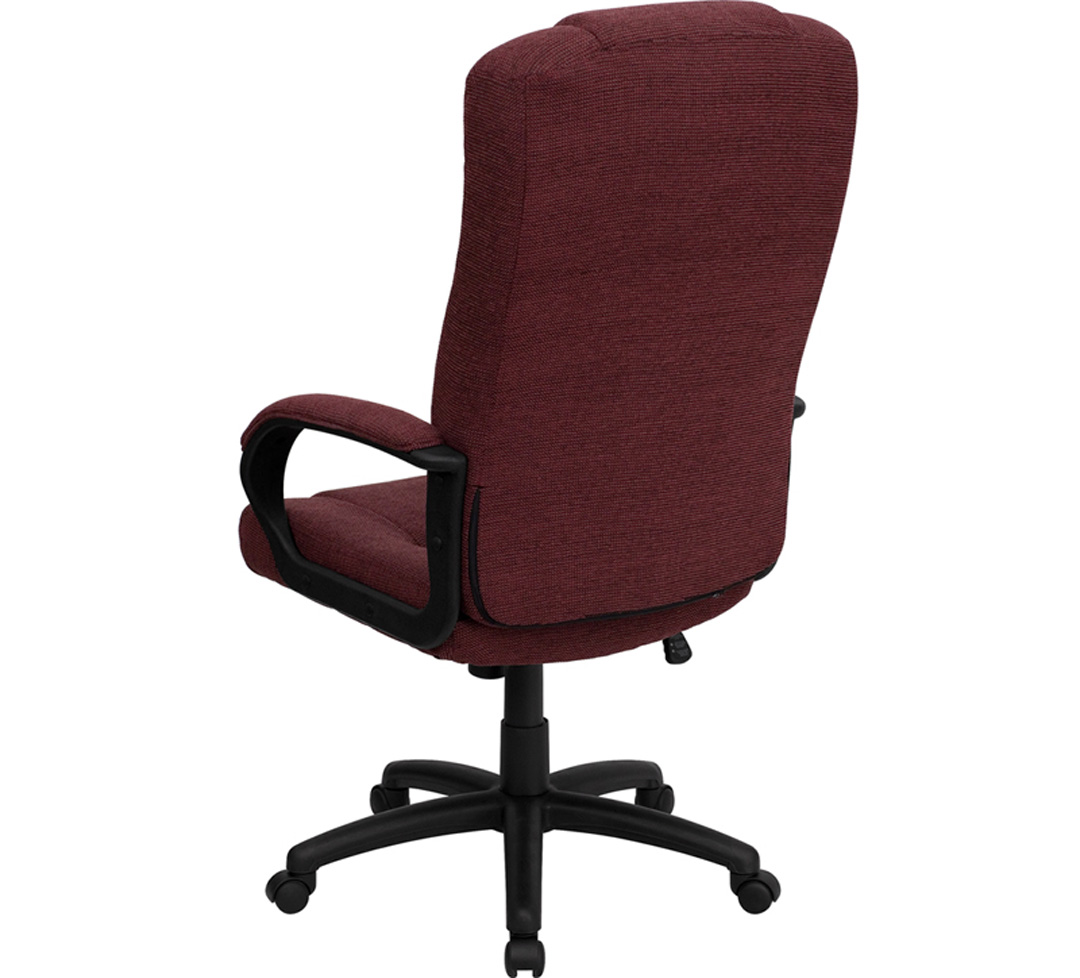 Cloth Office Chairs High Back Burgundy Fabric Executive Office Chair Bt 9022 By Gg