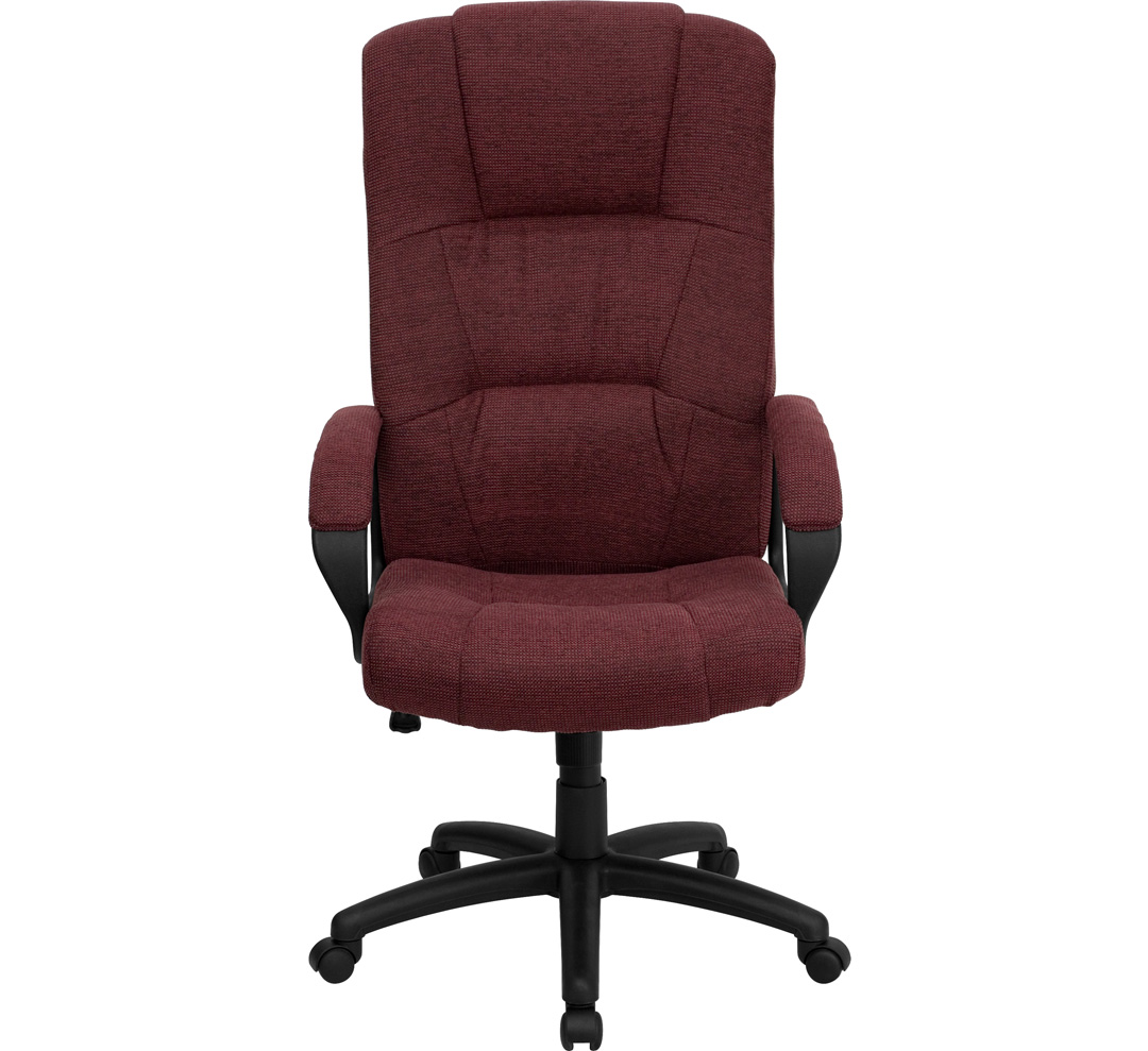 office chair high back gold bedroom burgundy fabric executive bt 9022 by gg