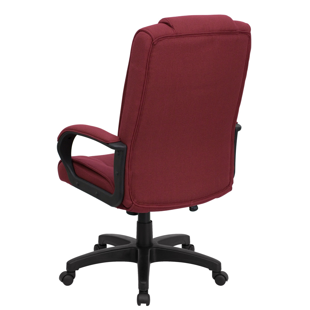 Burgundy Office Chair High Back Burgundy Fabric Executive Office Chair Go 5301b