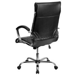 Fancy Leather Chair Dark Blue Accent High Back Designer Black Executive Office