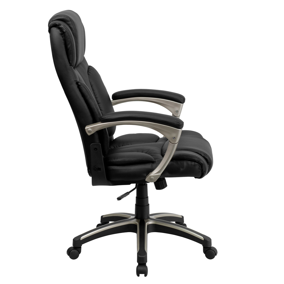 Foldable Office Chair High Back Folding Black Leather Executive Office Chair Bt