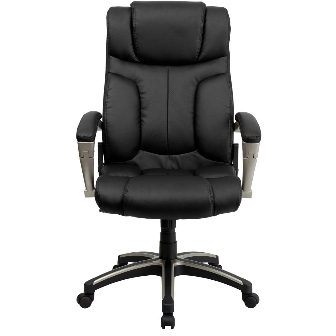 folding chair leather ergonomic posture high back black executive office bt