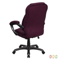 High Back Grape Microfiber Upholstered Contemporary Office ...