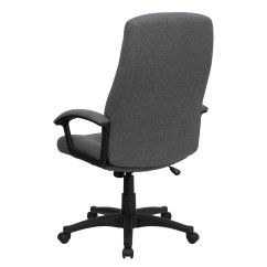 Cloth Office Chairs The Gym Chair High Back Gray Fabric Executive Swivel Bt