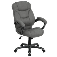 Microfiber Office Chair The Health High Back Gray Upholstered Contemporary