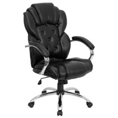 Black Leather Office Chair High Back Outdoor Rocking Set Of 2 Transitional Style Executive