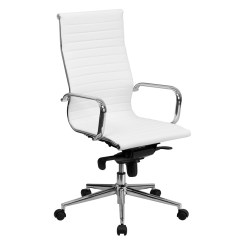 Office Chairs White Leather Wedding Chair Covers Swansea High Back Ribbed Upholstered Executive