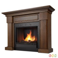 Hillcrest Ventless Gel Fuel Fireplace In Chestnut Oak With