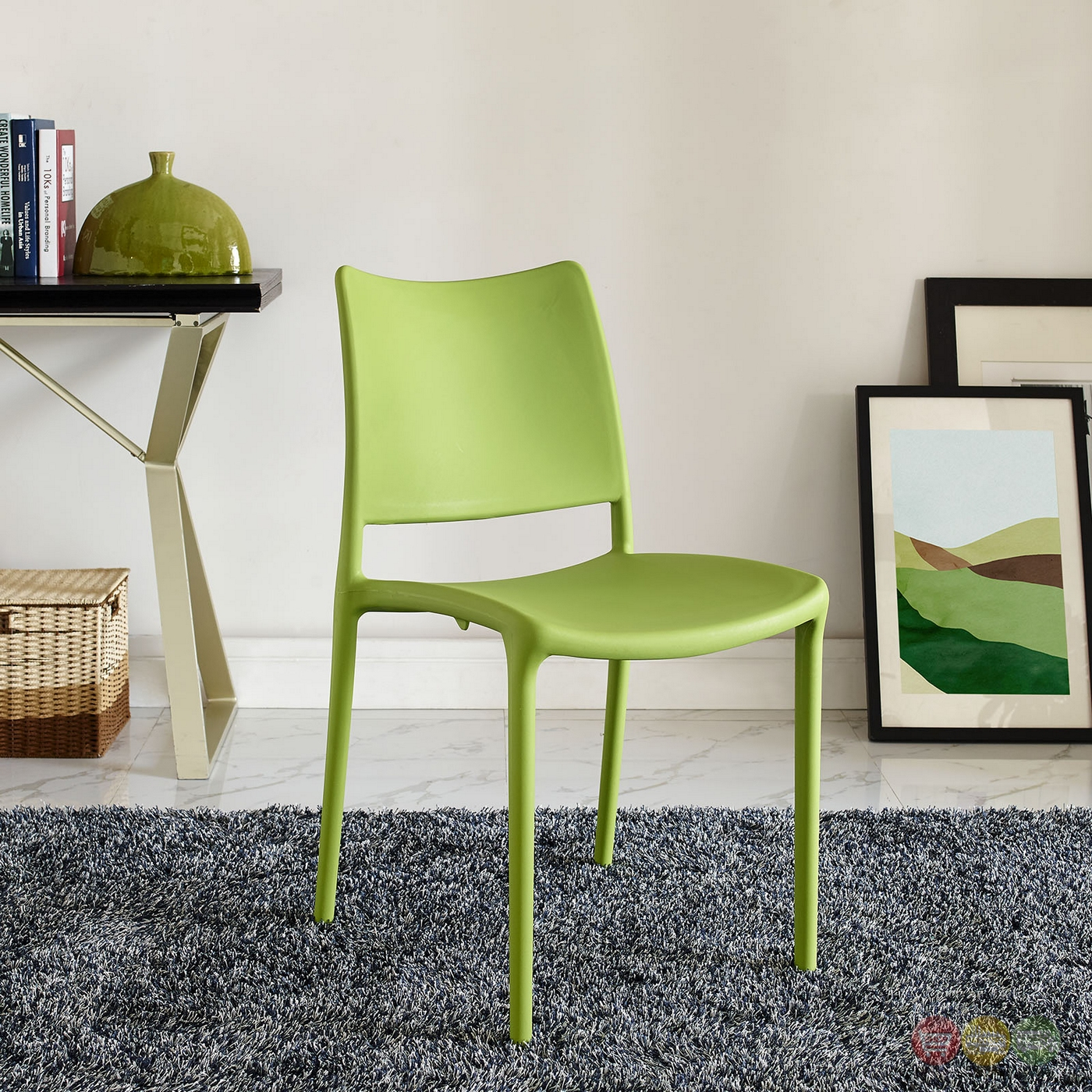 stackable resin chairs green swivel chair slipcover hipster contemporary plastic dining side